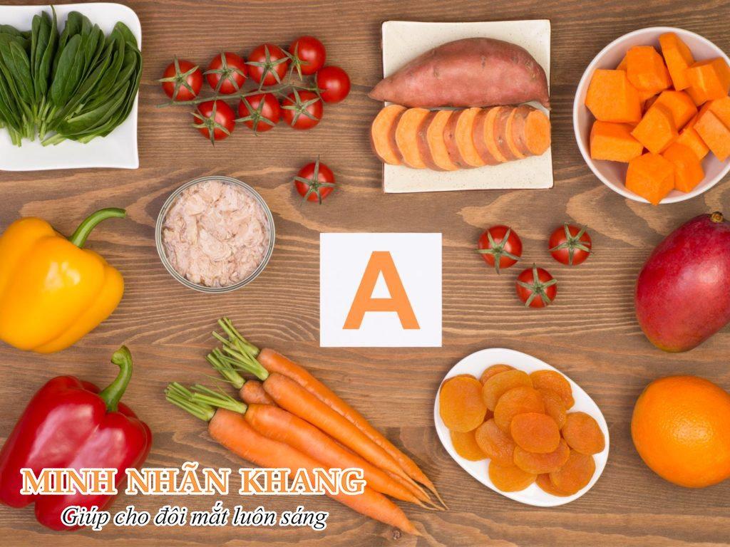 Người bị mắt mờ nên ăn các loại thực phẩm giàu vitamin A